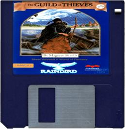 Cartridge artwork for Guild of Thieves on the Commodore Amiga.