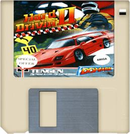 Cartridge artwork for Hard Drivin' 2 on the Commodore Amiga.