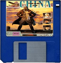 Cartridge artwork for Heart of China on the Commodore Amiga.