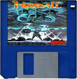 Cartridge artwork for Heimdall on the Commodore Amiga.