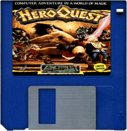Cartridge artwork for Hero Quest: Return of the Witch Lord on the Commodore Amiga.