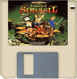 Cartridge artwork for Hero Quest 2: Legacy of Sorasil on the Commodore Amiga.