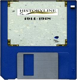 Cartridge artwork for Historyline: 1914 - 1918 on the Commodore Amiga.