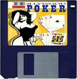 Cartridge artwork for Hollywood Poker on the Commodore Amiga.