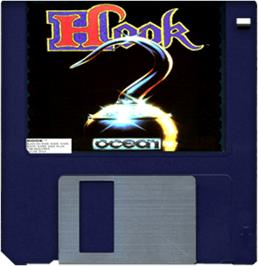 Cartridge artwork for Hook on the Commodore Amiga.