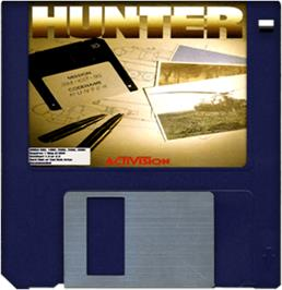 Cartridge artwork for Hunter on the Commodore Amiga.
