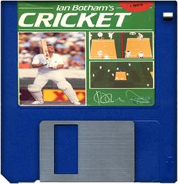 Cartridge artwork for Ian Botham's Cricket on the Commodore Amiga.