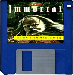 Cartridge artwork for Immortal on the Commodore Amiga.