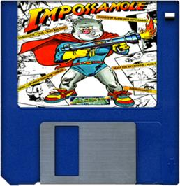 Cartridge artwork for Impossamole on the Commodore Amiga.