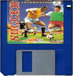 Cartridge artwork for International Soccer on the Commodore Amiga.
