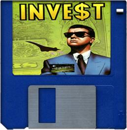 Cartridge artwork for Invest on the Commodore Amiga.