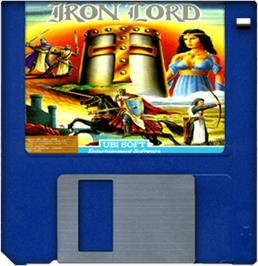 Cartridge artwork for Iron Lord on the Commodore Amiga.