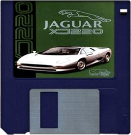 Cartridge artwork for Jaguar XJ220 on the Commodore Amiga.