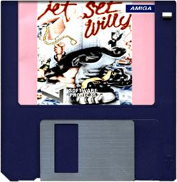 Cartridge artwork for Jet Set Willy 2 on the Commodore Amiga.
