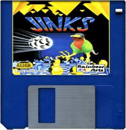 Cartridge artwork for Jinks on the Commodore Amiga.