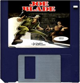 Cartridge artwork for Joe Blade on the Commodore Amiga.