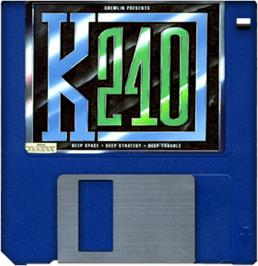 Cartridge artwork for K240 on the Commodore Amiga.