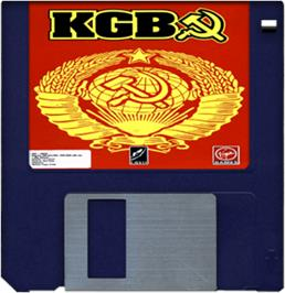 Cartridge artwork for KGB on the Commodore Amiga.