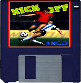Cartridge artwork for Kick Off: Extra Time on the Commodore Amiga.