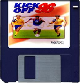 Cartridge artwork for Kick Off 96 on the Commodore Amiga.