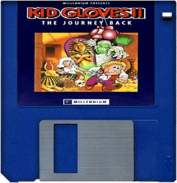 Cartridge artwork for Kid Gloves II: The Journey Back on the Commodore Amiga.
