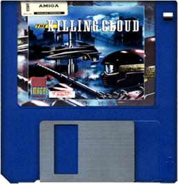 Cartridge artwork for Killing Cloud on the Commodore Amiga.