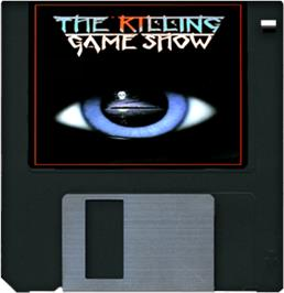Cartridge artwork for Killing Game Show on the Commodore Amiga.