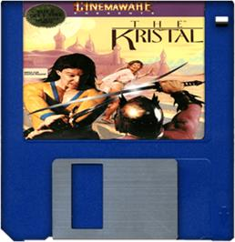 Cartridge artwork for Kristal on the Commodore Amiga.