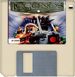 Cartridge artwork for Legends on the Commodore Amiga.