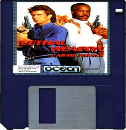 Cartridge artwork for Lethal Weapon on the Commodore Amiga.