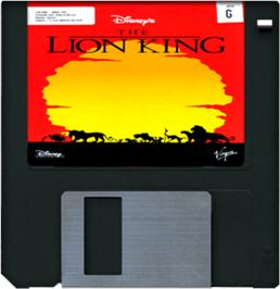 Cartridge artwork for Lion King on the Commodore Amiga.