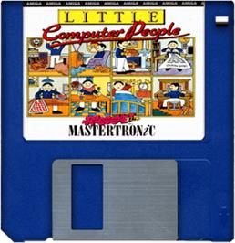 Cartridge artwork for Little Computer People on the Commodore Amiga.