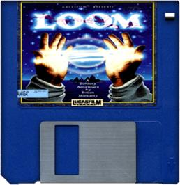 Cartridge artwork for Loom on the Commodore Amiga.