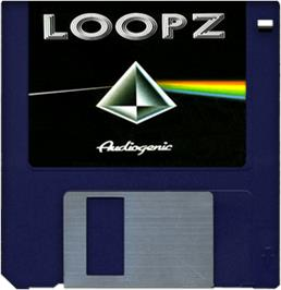 Cartridge artwork for Loopz on the Commodore Amiga.