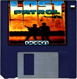 Cartridge artwork for Lost Patrol on the Commodore Amiga.