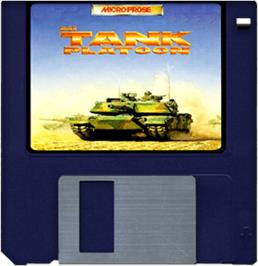 Cartridge artwork for M1 Tank Platoon on the Commodore Amiga.