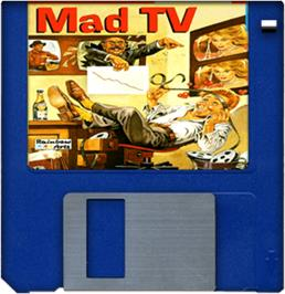Cartridge artwork for Mad TV on the Commodore Amiga.