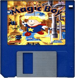 Cartridge artwork for Magic Boy on the Commodore Amiga.