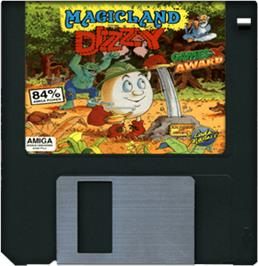 Cartridge artwork for Magicland Dizzy on the Commodore Amiga.