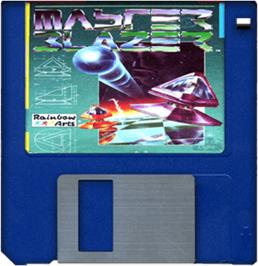 Cartridge artwork for Master Blazer on the Commodore Amiga.
