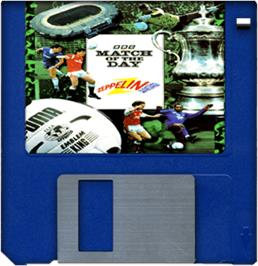 Cartridge artwork for Match of the Day on the Commodore Amiga.