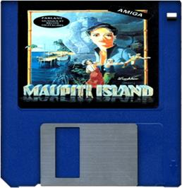 Cartridge artwork for Maupiti Island on the Commodore Amiga.