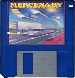 Cartridge artwork for Mercenary III : The Dion Crisis on the Commodore Amiga.