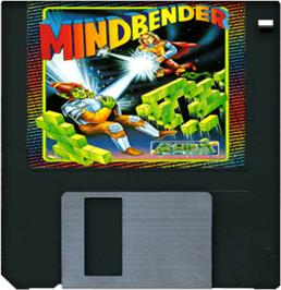 Cartridge artwork for Mind Bender on the Commodore Amiga.