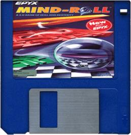 Cartridge artwork for Mind Roll on the Commodore Amiga.