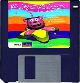Cartridge artwork for Minskies: The Abduction on the Commodore Amiga.