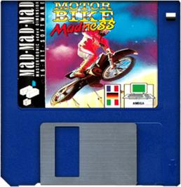Cartridge artwork for Motorbike Madness on the Commodore Amiga.