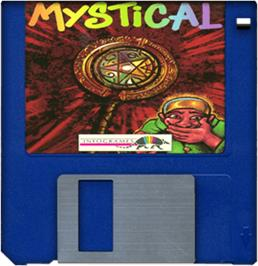Cartridge artwork for Mystical on the Commodore Amiga.