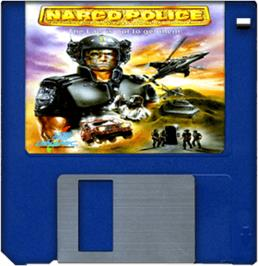 Cartridge artwork for Narco Police on the Commodore Amiga.