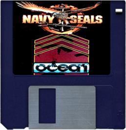 Cartridge artwork for Navy Seals on the Commodore Amiga.